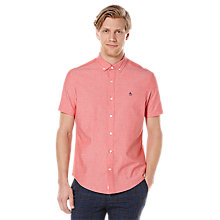 Buy Original Penguin Straight Up Short Sleeve Oxford Shirt Online at johnlewis.com