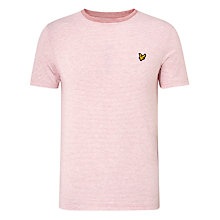 Buy Lyle & Scott Fine Stripe T-Shirt, Pink Marl Online at johnlewis.com