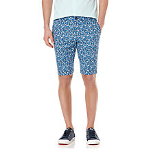 Buy Original Penguin Bloomer Floral Print Shorts, Dress Blues Online at johnlewis.com