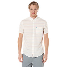 Buy Original Penguin Rainbow Stripe Short Sleeve Shirt, Silver Birch Online at johnlewis.com