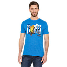 Buy Original Penguin Roller Coaster Printed T-Shirt, Sky Diver Online at johnlewis.com