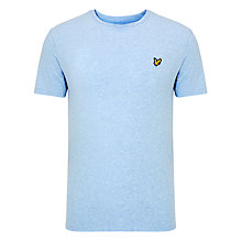 Buy Lyle & Scott Crew Neck Cotton T-Shirt, Blue Marl Online at johnlewis.com