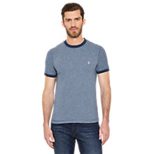 Buy Original Penguin Klang Fine Stripe Crew Neck T-Shirt, Dark Denim Online at johnlewis.com