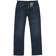 Buy Ted Baker Brentry Organic Basic Boot Cut Jeans, Dark Wash Online at johnlewis.com
