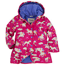 Buy Hatley Girls' Unicorns Classic Rain Jacket, Pink Online at johnlewis.com