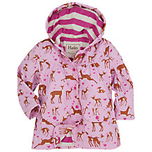 Buy Hatley Girls' Deers Classic Raincoat, Pink Online at johnlewis.com