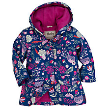 Buy Hatley Girls' Flowers Classic Raincoat, Navy Online at johnlewis.com