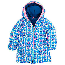 Buy Hatley Girls' Butterflies Reversible Waterproof Hood Jacket, Blue Online at johnlewis.com