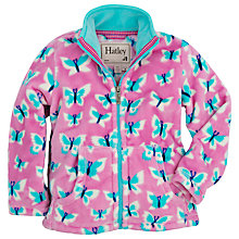 Buy Hatley Girls' Butterflies Zip Through Fleece, Pink Online at johnlewis.com