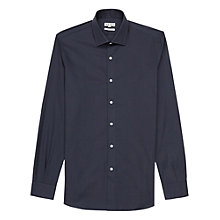 Buy Reiss Driver Cotton Shirt, Navy Online at johnlewis.com
