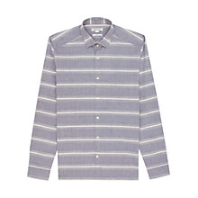 Buy Reiss Camber Stripe Pattern Long Sleeve Shirt, Grey Online at johnlewis.com