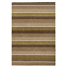Buy John Lewis Fennel Multistripe Runner, Green Online at johnlewis.com