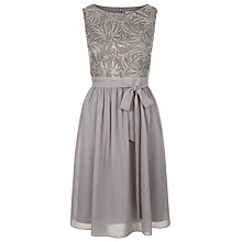 Buy Kaliko Cornelli Detail Pleat Dress, Light Grey Online at johnlewis.com