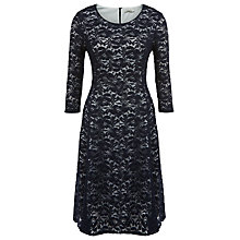Buy Kaliko Lace Skater Dress, Navy Online at johnlewis.com