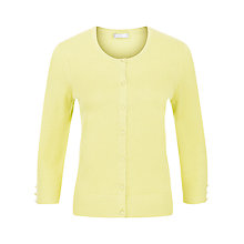 Buy Planet Button Through Cardigan, Lemon Online at johnlewis.com