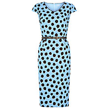 Buy Planet Spotted Belted Shift Dress, Sky Online at johnlewis.com