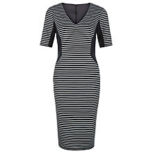 Buy Planet Striped Ponte Shift Dress, Navy Online at johnlewis.com