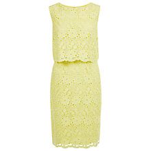 Buy Kaliko Double Layer Dress, Pastel Yellow Online at johnlewis.com