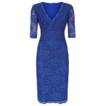 Buy Kaliko Embellished Lace Dress, Dark Blue Online at johnlewis.com