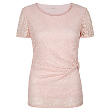 Buy Kaliko Twist Detail Lace Top, Pastel Pink Online at johnlewis.com
