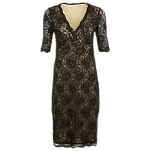 Buy Kaliko Embellished Lace Dress, Black Online at johnlewis.com