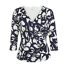 Buy Planet Abstract Print Top, Multi Blue Online at johnlewis.com