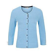 Buy Planet Button Cardigan, Sky Online at johnlewis.com