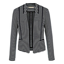 Buy Planet Striped Ponte Jacket, Navy Online at johnlewis.com