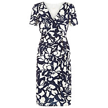 Buy Planet Abstract Print Ity Dress, Navy Online at johnlewis.com