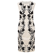 Buy Kaliko Embroidered Floral Dress, Ivory/Black Online at johnlewis.com