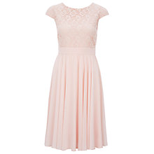 Buy Kaliko Floral Lace Dress, Pastel Pink Online at johnlewis.com