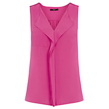 Buy Oasis SL Frill Shirt, Bright Pink Online at johnlewis.com