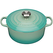 Buy NEW Le Creuset Cast Iron Signature Round Casserole, Mint Online at johnlewis.com