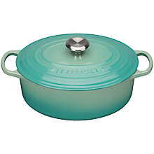 Buy NEW Le Creuset Cast Iron Signature Oval Casserole, Mint, L29cm Online at johnlewis.com