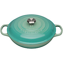 Buy NEW Le Creuset Cast Iron Signature Shallow Casserole, Mint, Dia.30cm Online at johnlewis.com