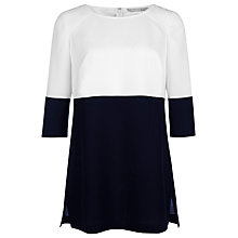 Buy Planet Colour Block Tunic Top, Multi Blue Online at johnlewis.com