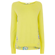 Buy Oasis Lola Woven Back Top, Bright Yellow Online at johnlewis.com