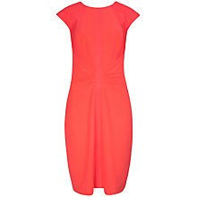 Buy Ted Baker Acerola Mesh Panel Dress, Mid Orange Online at johnlewis.com