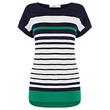 Buy Oasis Engineered Stripe Top, Multi Online at johnlewis.com