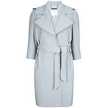 Buy Ted Baker Caila Deconstructed Trench Coat, Powder Blue Online at johnlewis.com