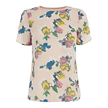Buy Oasis Art Rose Rib T-Shirt, Multi Online at johnlewis.com