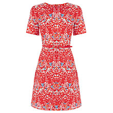 Buy Oasis Falling Blossom Dress, Red Online at johnlewis.com