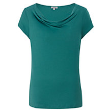 Buy Jigsaw Yoke Cowl T-Shirt, Teal Online at johnlewis.com