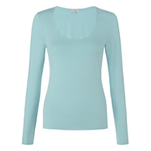 Buy Jigsaw Double Front Scoop Neck Top Online at johnlewis.com