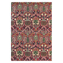 Buy William Morris New Red Floral Rug Online at johnlewis.com