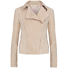 Buy Ted Baker Sapley Suede Biker Jacket, Camel Online at johnlewis.com