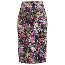 Buy Oasis Digital Floral Pencil Cotton Skirt, Multi Online at johnlewis.com