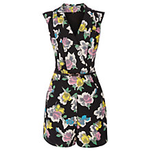 Buy Oasis Art Rose Print Jumpsuit, Multi Online at johnlewis.com