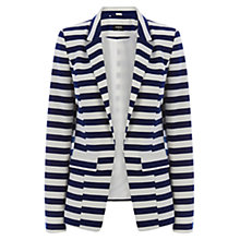 Buy Oasis Anais Jacket, Blue/White Online at johnlewis.com