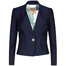 Buy Ted Baker Eiza Pique Suit Jacket, Blue Online at johnlewis.com